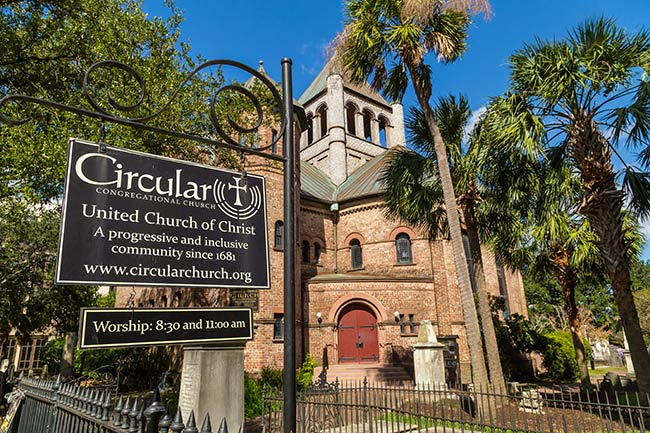 Circular Church Entrance - Charleston, SC