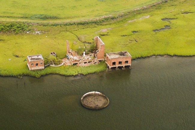 Coal Tipple Ruins Aerial