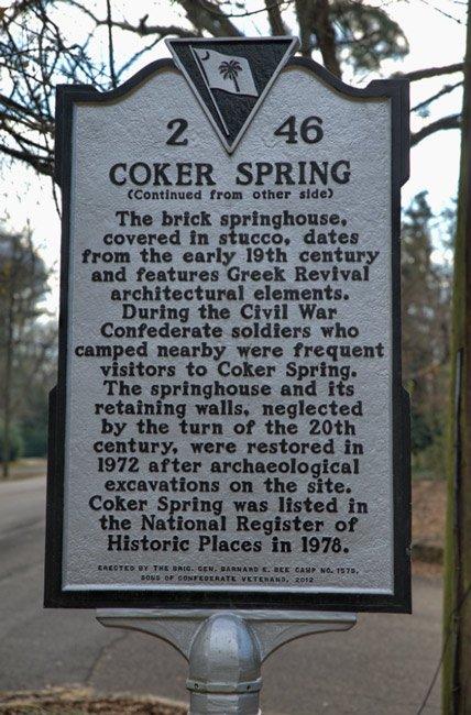 Coker Spring Marker Back