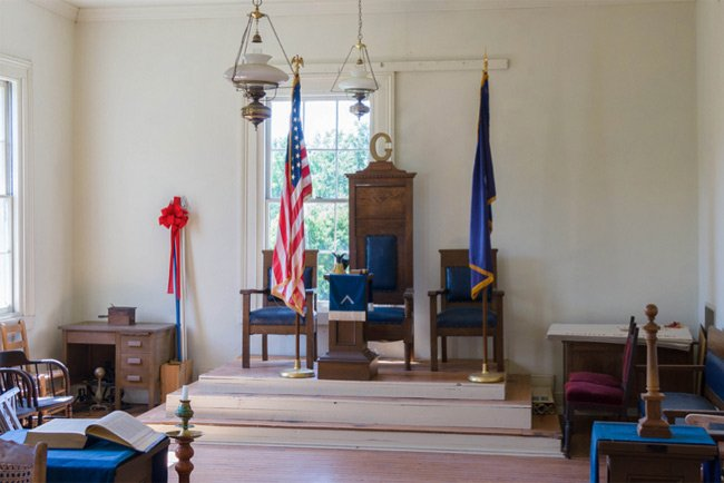 Cokesbury College Masonic Room