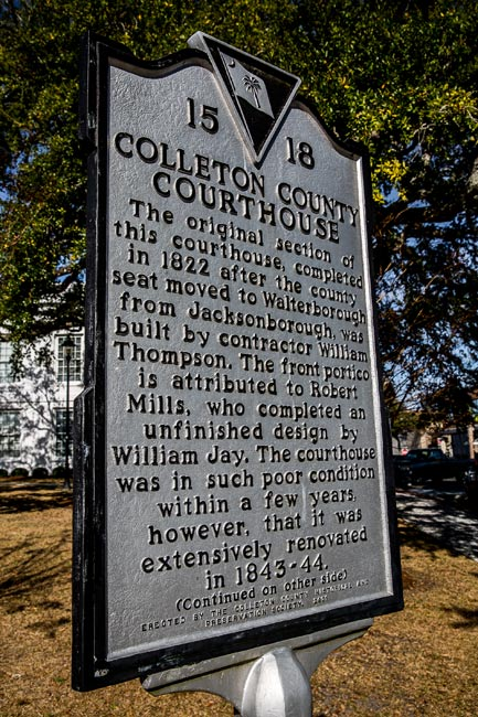 Colleton County Courthouse Marker