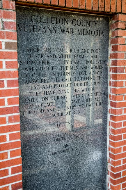 Colleton County Veterans Memorial