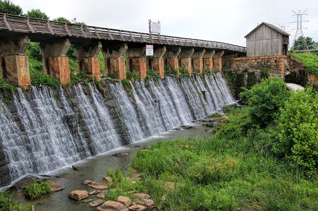 Columbia Canal Spillway