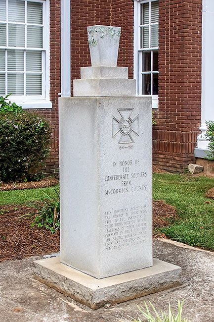 McCormick County Courthouse Confederate Marker
