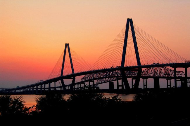Cooper River Bridge Sunset