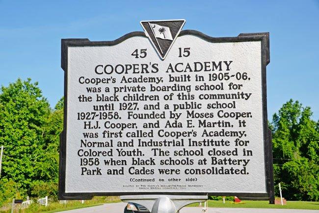 Cooper's Academy Historic Marker