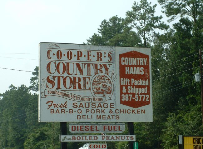 Coopers Country Store Sign