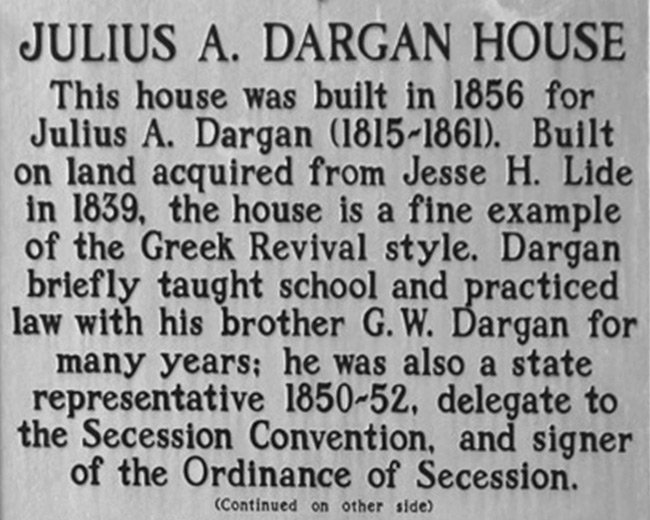 Dargan House Marker