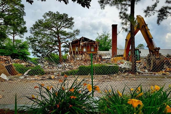 Demolished Ft. Jackson Headquarters