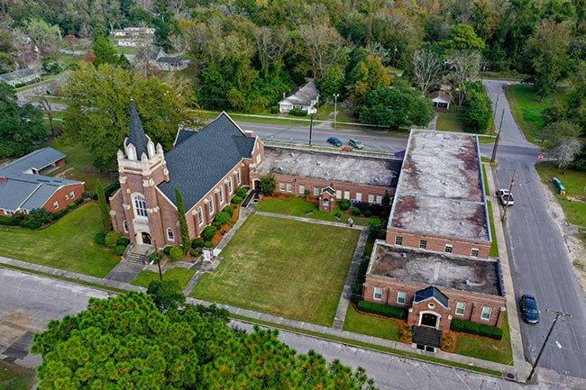 Denmark First Baptist Church Aerial