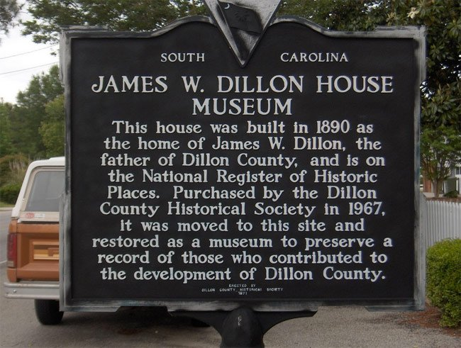Dillon House Museum Marker