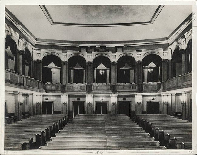 Dock Street Theater Interior Historic Photo
