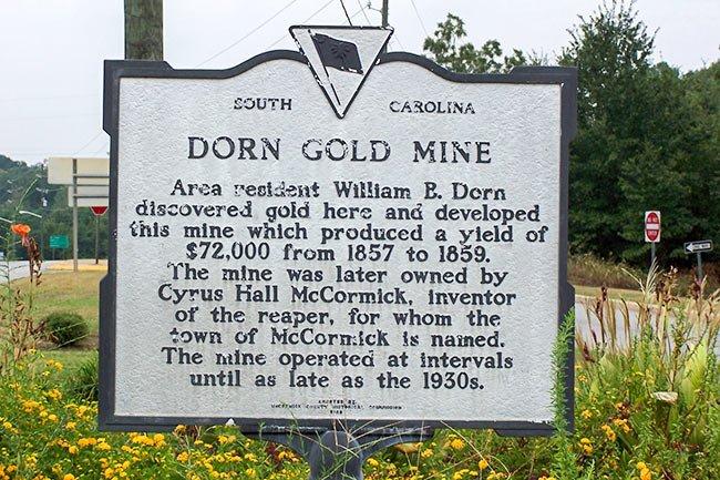 Dorn Gold Mine Marker