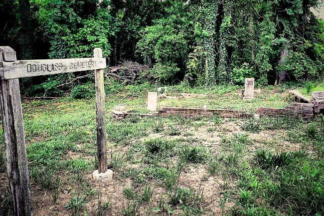 Douglass Cemetery Sign
