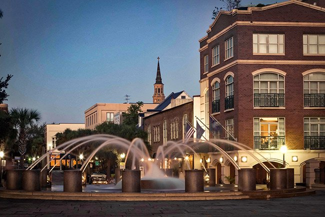 Downtown Charleston Waterfront Park at Dawn