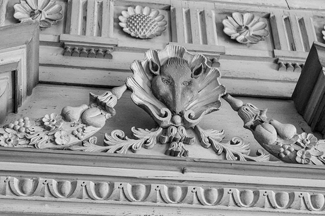 Detail of Carving in Great Hall