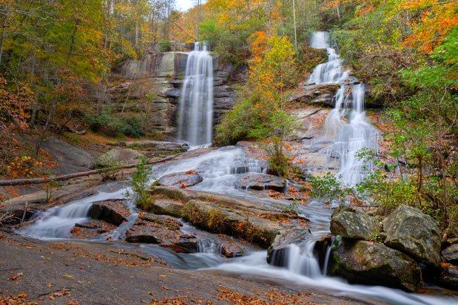 Eastatoe Fallls in Autumn