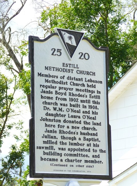 Estill Methodist Church Marker