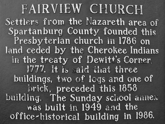Fairview Church Marker