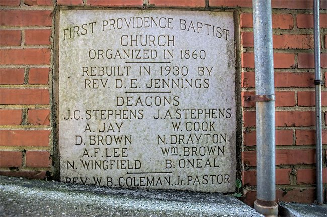 First Providence Marker