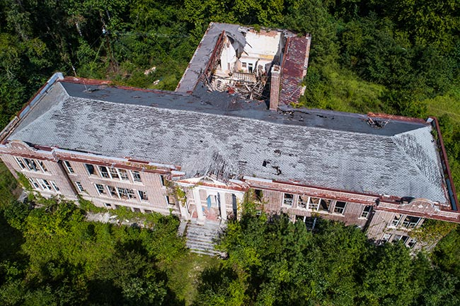 Fletcher Memorial School Aerial