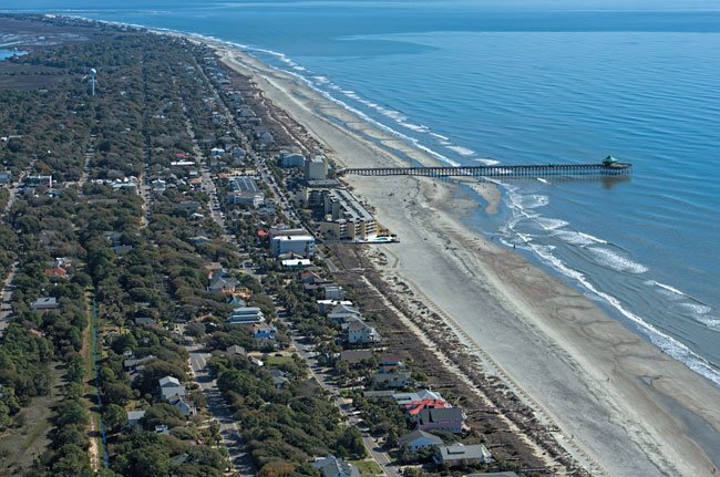 Folly Beach Aerial