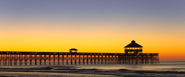 Folly Beach Pier at Sunrise
