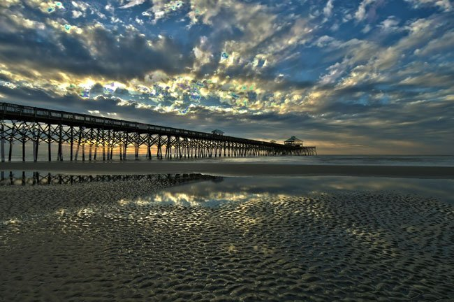 Folly beach pier charleston south carolina sc for Isle of palms fishing pier