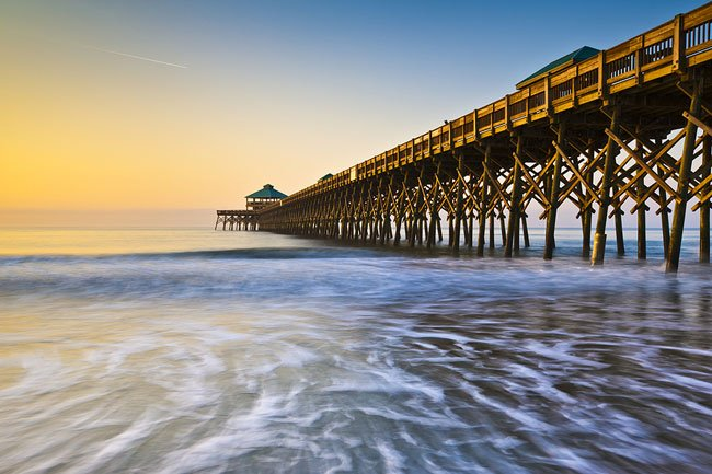 folly beach pier charleston south carolina sc
