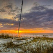 Folly Beach Sailboat