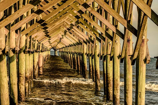 Folly Pier from Underneath