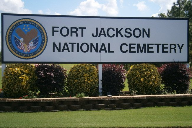 Fort Jackson Cemetery Sign