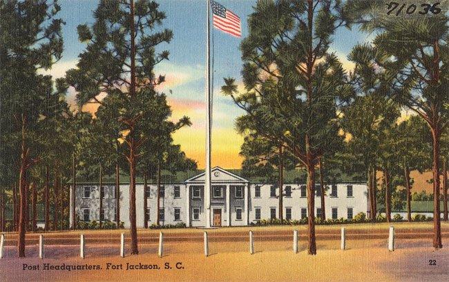 Fort Jackson Headquarters Postcard