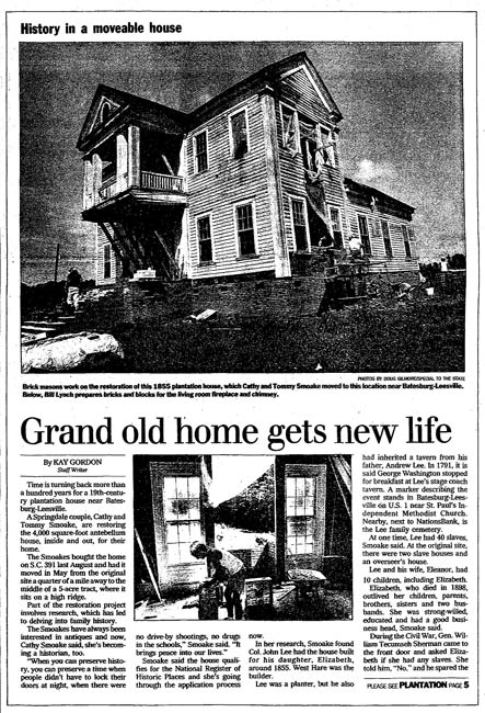 For Taylor House Article