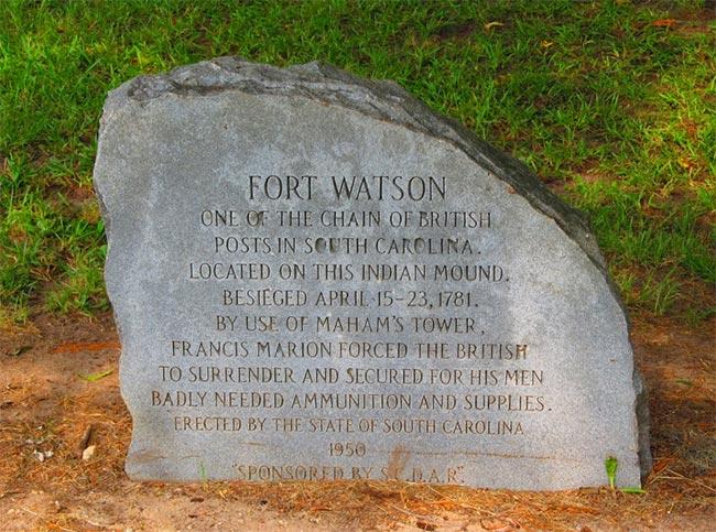 Fort Watson Marker