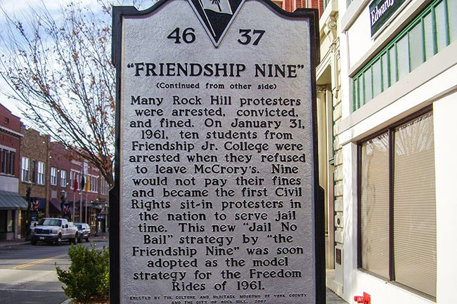 Friendship Nine Historic Marker