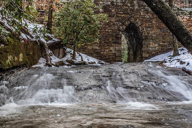 Frozen Waterway, Poinsett Bridge