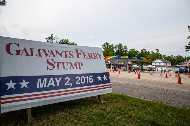 Galivants Ferry Stump Sign