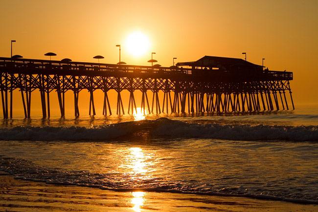 Garden City Pier at Daybreak