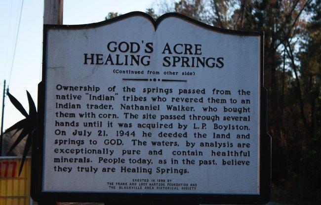 God's Acre Healing Springs - Blackville, South Carolina