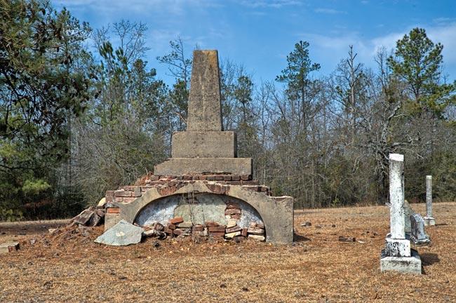 Graniteville Cemetery Brick Ruins