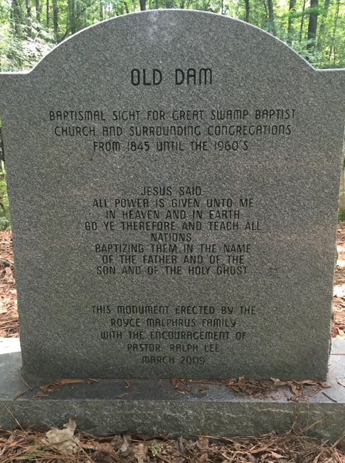 Great Swamp Baptismal Marker