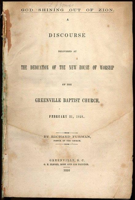 Greenville Baptist Discourse
