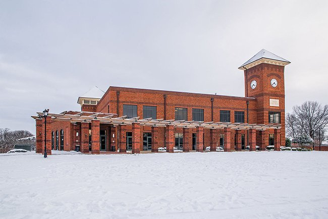 Greer City Hall in the Snow