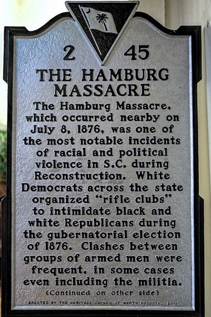 Hamburg Massacre Marker