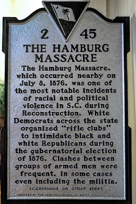 Hamburg Massacre Marker