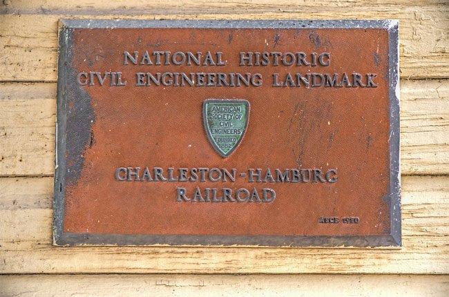 Hamburg Railroad Marker
