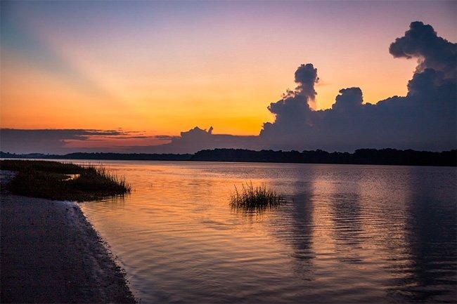 Harbor River Sunset