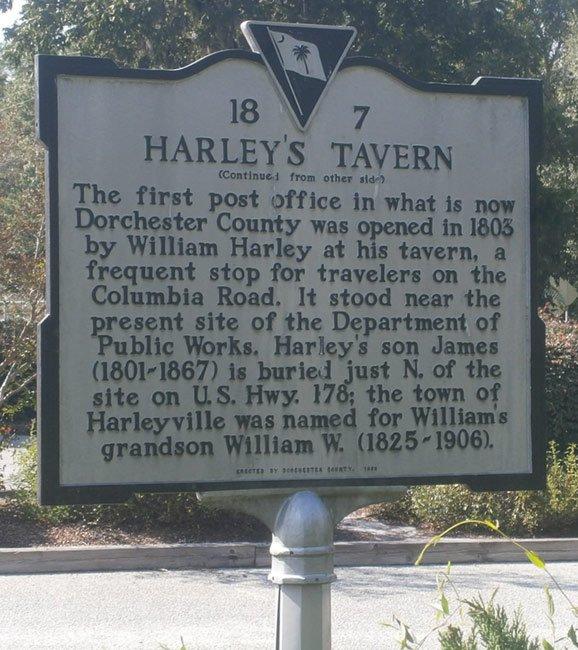 Harleys Tavern Marker