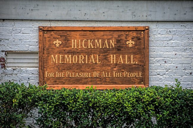 Hickman Hall Plaque